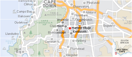Map of Harfield Village