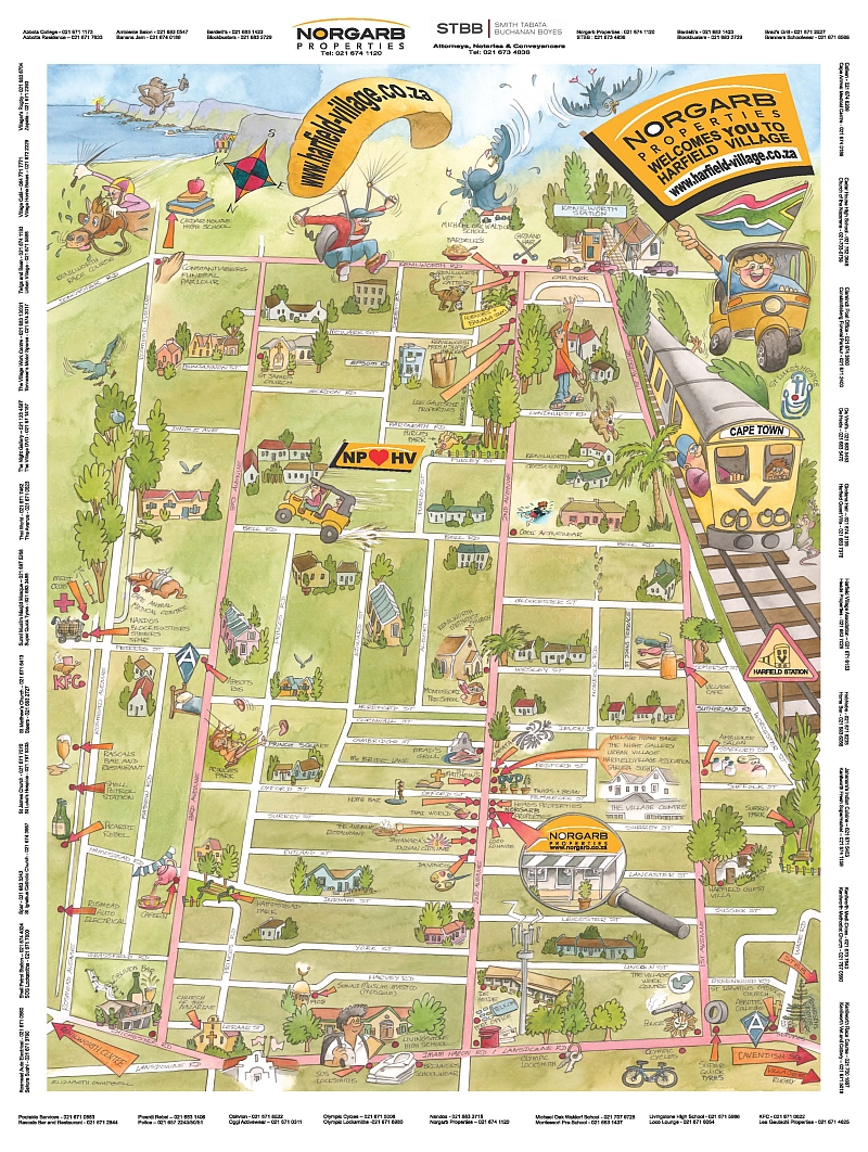 Harfield_village_map